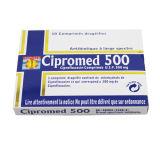 La ciprofloxacine marque sur tablette 500mg, 10/OEM d'ampoule/cadre