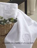 ホテルのための良質の平野の白100%の綿のHopsackの織り方タオル