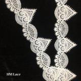 심혼과 돔 반점 모양 트리밍 Hmw6219를 가진 6cm 공주 White Trim Lace