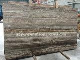 Pietra nera naturale del travertino con le lastre e le mattonelle