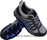 Flyknitの技術のスエードの革および網デザイン安全靴