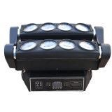 8*10W indicatore luminoso capo mobile del fascio del ragno di colore completo LED per illuminazione della fase del randello di KTV