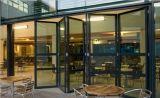 Portello di piegatura di alluminio di Pnoc080338ls con vetro glassato