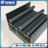 Windowsの柵/Trackのための暗い灰色の粉のコーティングの表面のアルミニウムプロフィール