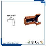 Angolo molle stabilito L base di buona qualità della tappezzeria del sofà americano della traversina di sofà di figura