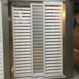 Innenraum, der Plantage-Blendenverschluss-Aluminium-Blendenverschlüsse schiebt