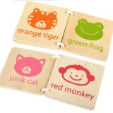 Tabla de madera populares artesanía de diseño de los animales a los niños juguetes educativos Libro