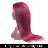 Da peruca cheia vermelha do laço do cabelo humano da cor de Ombre da fábrica de Qingdao venda superior