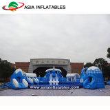 Kundenspezifischer aufblasbares Baum-Plättchen-Wasser-Bodenpark, aufblasbarer beweglicher Park
