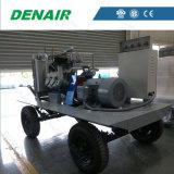 De draagbare/Beweegbare Dieselmotor stelde gemakkelijk de Compressor van de Lucht van de Schroef in werking