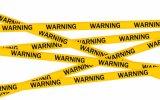 De gele Zwarte PE Banden CC-Wt001 van de Waarschuwing
