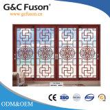 Puerta deslizante de aluminio del primer grado de China con la pantalla del insecto del acero inoxidable