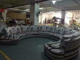 Grande mobilia di cuoio del sofà di U per la mobilia del salone con il disegno del tasto (W7024)