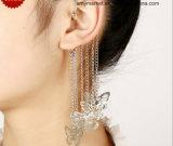 Сплав серег зажима Tassel бабочки медный отсутствие кольца уха уха потребности Piercing