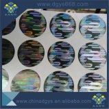 Kundenspezifischer einmaliger verwendeter Laser-Hologramm-Aufkleber mit Zahl in Dongguan