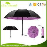 Горячая продажа рекламных подарков вручную открыть зонтик в 3 раза с логотипом печать