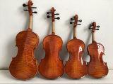 Violino do OEM Teka Chinrest da fábrica do violino dos instrumentos musicais com caso