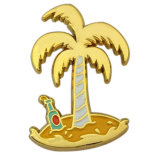 Formato de abacaxi Holiday Tema Ouro Pin de lapela brilhante