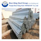Fileté avec le zingage galvanisé de pipe en acier de l'IMMERSION chaude ERW de plots 220G/M2