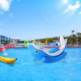 도매가 Dophin 물 공원을%s 팽창식 물 시소 장난감