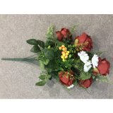꽃다발 가정 당 디자인을 Wedding 유액 접촉 로즈 실제적인 꽃