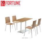 A maioria Moden Design em aço inoxidável de madeira Restaurante mesas e cadeiras para venda (FOH-BC36)