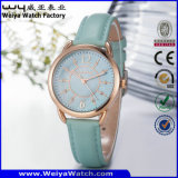 Orologio della donna del quarzo della cinghia di cuoio di OEM/ODM (Wy-095B)