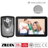Telefone video da porta do intercomunicador da gravação da imagem