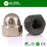 En acier au carbone zingué galvanisé la calotte du dôme de l'écrou hexagonal