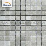 Baratos cuadrado gris mármol natural muro de piedra piso decoración mosaico de mármol del mosaico chino