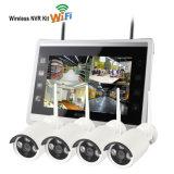 """Câmera sem fio do IP dos mini jogos de 4chs WiFi 1.0megapixels NVR com os 10.1 """" monitores"""