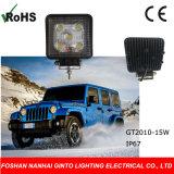 15W Square 4'', luz LED de trabajo para el coche, camión