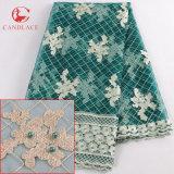 Caliente vendiendo la tela barato bordada de Tulle para la alineada de las mujeres