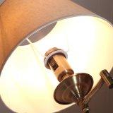 Diseño de cristal Vintage Lighti Euro giratorios de hierro de la luz de la mesilla de noche