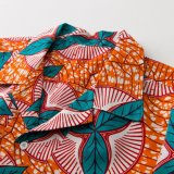 2017의 최신 작풍 100%년 면 Dashiki 아프리카 왁스 인쇄 남자 셔츠