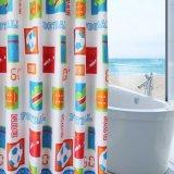 Занавес ливня ванной комнаты Анти--Mildew напечатанный 100%Polyester (18S0068)