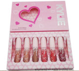 Состава цвета губной помады a/B косметик Kylie пакет 6PCS Lipgloss жидкостного симпатичный розовый