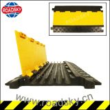 Durable Yellow Channels Ramp Outdoor Rubber Cables Protector for Floor