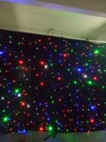 Paño de la decoración de la luz de LED LED azul y blanco cortina estrella