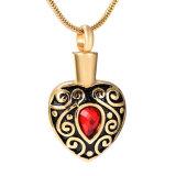 De glanzende Gouden Juwelen van de Crematie van het Hart van de Bloem van de Tegenhanger van de Crematie Uitstekende