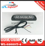 4W LEDの警報灯ヘッド薄赤の白