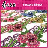 Шикарный шнурок цветка вышивки 3 d