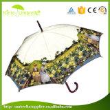 Garden Umbrella Customized Cartoonの熱い販売23のインチJのハンドルの自動車の開いた女性の傘