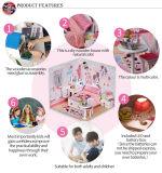 Lovely DIY Rosa casa de muñecas de juguete de madera Set de regalo