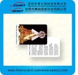 De oro/plata/tarjeta blanca de la identificación del PVC del plástico de la impresión