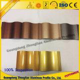 Perfil de alumínio personalizado da extrusão da cor da eletroforese para decorações