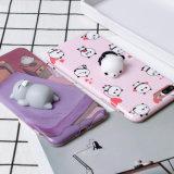 iPhone 7 аргументы за сотового телефона кота милой панды спать выжимкы 3D ленивое