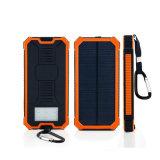 côté solaire de pouvoir de chargeur de téléphone du bloc d'alimentation 10000mAh avec le crochet pour des sports en plein air