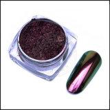Unicórnio Camaleão Pigmentos espelho cromado, esmalte de gel pigmento cintilante polaco