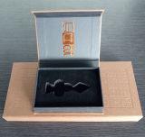 Изысканный подарок жесткий футляр украшения в салоне с EVA поддерживает пользовательские Gold тиснение логотипа